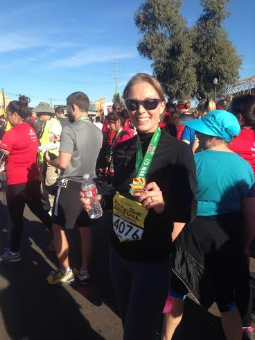 PF Changs Half Marathon Finish